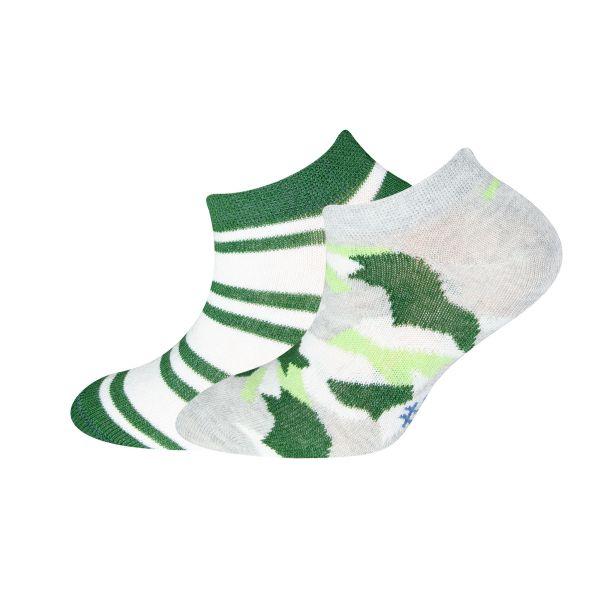 Art.251047 sweater grau mel.-polo grün