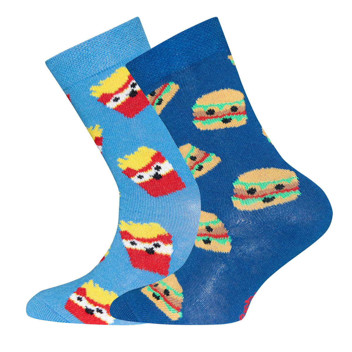 Neupreis heiß-verkaufender Beamter bieten viel Socken 2er Pack Pommes Frites/Hamburger